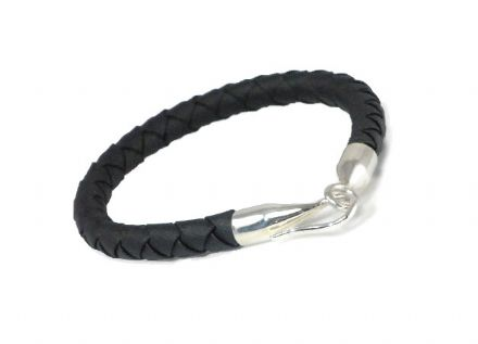 Sterling Silver and faux Leather Bracelet